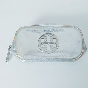Tory Burch Silver Makeup/Travel Case